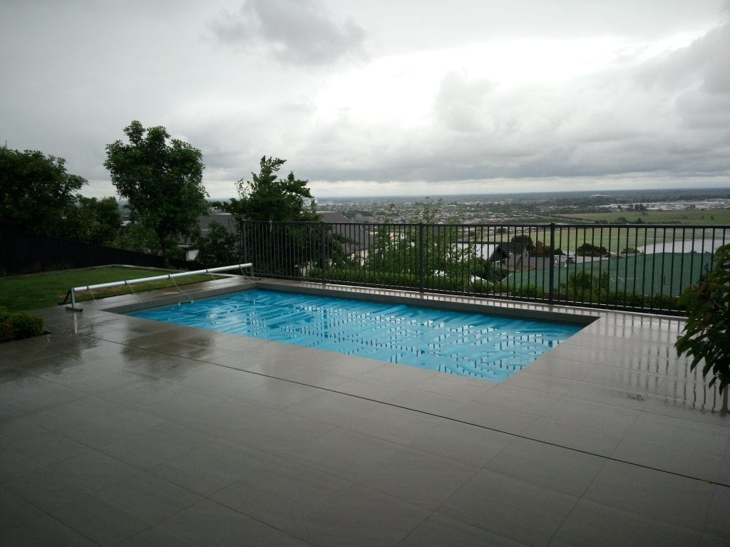 tiled swimming pool