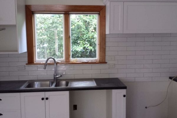 White Brick splashback