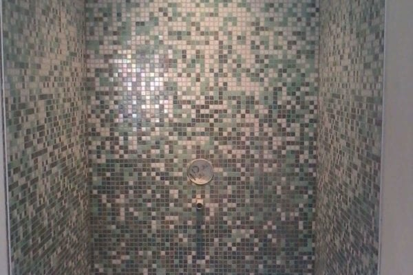 Mosaic tiles shower