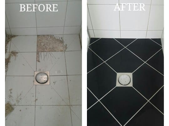 Easy tile shower base repair